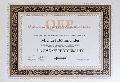 QEP Urkunde